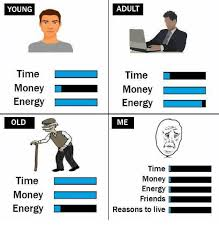Old Time Meme - adult young time time money money energy energy me old time money