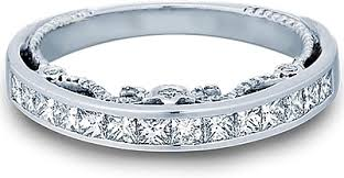 channel set wedding band verragio princess channel set diamond wedding band ins 7064pw