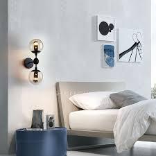 Two Light Wall Sconce 2 Light Globe Glass Shade E26 E27 Bedroom Wall Sconce