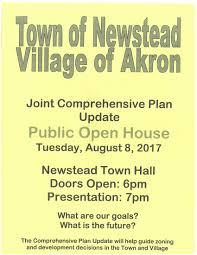 Our Town House Plans by Public Open House Town Of Newstead And Village Of Akron Joint