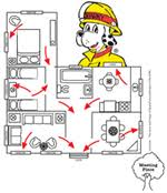 home escape plan fire evacuation plan for home homes floor plans