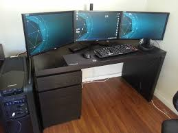 Desk For Gaming Pc by Desk Wooden Gaming Desk Regarding Pleasant Battle Station All In