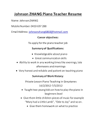 Sample Music Teacher Resume by Johnson Zhang Piano Teacher Resume 1 638 Jpg Cb U003d1441876117