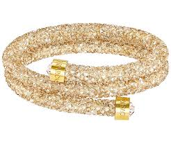 gold swarovski bracelet images Crystaldust double bangle golden gold plating jewelry jpg