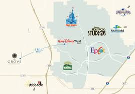 Orlando Theme Parks Map by The Grove Resort U0026 Spa Location Parks And Shopping