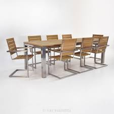 Teak And Stainless Steel Outdoor Furniture by Stainless And Teak Table And Chairs Outdoor Dining Set Teak