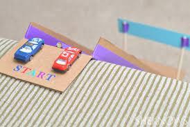 diy toys homemade race car track