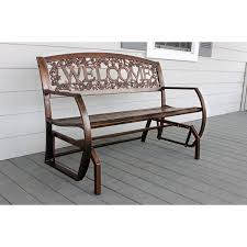 leighcountry welcome double glider bench u0026 reviews wayfair
