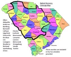 charleston sc zip code map big recovery llc south carolina repossession services