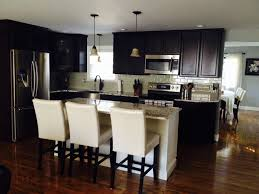 interior counter height stools with backs and kitchen island also