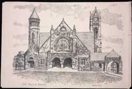 churches newton ma eliot congregational church rines sketch