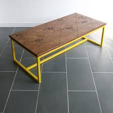 harnall u0027taste delight u0027 reclaimed iroko coffee table mustard vintage