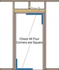 Framing Exterior Door Exterior Door Diagram 2x4 Wall Opening Framing