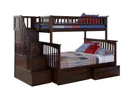 Staircase Bunk Beds Columbia Staircase Bunk Bed Antique Walnut