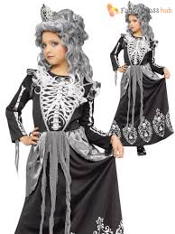age 4 12 deluxe girls skeleton bride queen halloween fancy dress