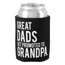 great dads get promoted to great dads get promoted to can cooler zazzle