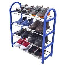 Shoo Metal compact shoe organizer rack or shoe racks