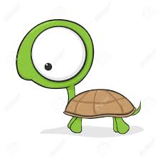 cute cartoon turtle with huge eyes royalty free cliparts vectors