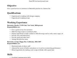 Resume Template Bartender 100 Sample Bartender Resume Free Resume Examples 2017 Resum