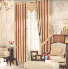 khaki floral living room curtain ideas modern