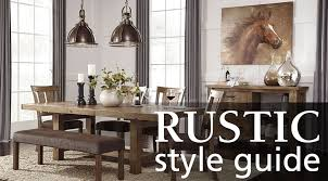 Interior Design Style Guide Rustic Furniture