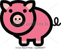 vectors illustration cute cartoon pig cute fun funny
