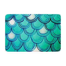 Blue Bath Mat Theresa Giolzetti