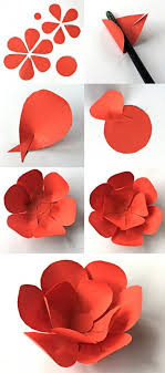 Paper Crafts - 12 step by step diy papers made flower craft ideas for diy