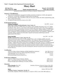 resume examples for experienced professionals accounts receivable