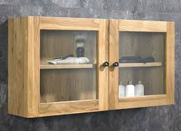 Unfinished Wall Cabinets With Glass Doors Oak Bathroom Wall Cabinets Brilliant Small Cabinet Nrc