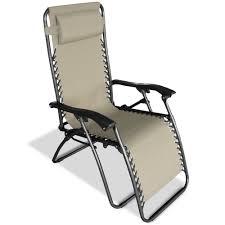 Reclining Gravity Chair Zero Gravity Recliner Beige Caravan Canopy 80009000150