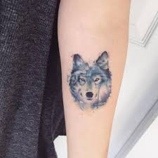 image result for small wolf tattoos small