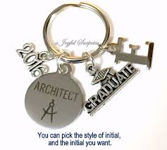 graduation keychain architect graduation present architecture keychain gift for