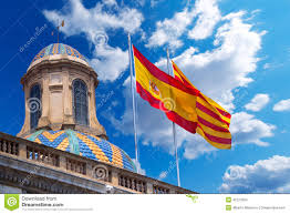 Barcelona Spain Flag Flags Of Spain And Catalonia Together Stock Photo Image 42127804