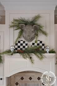 christmas farmhouse kitchen stonegable