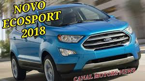 nova ford ecosport 2018 reestilizado o exterior e interior