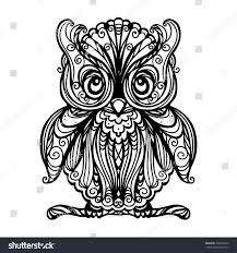 owl isolated black white vector stock vector 160396532 shutterstock
