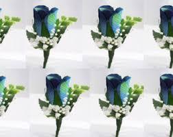 Royal Blue Boutonniere Blue Boutonniere Etsy