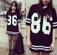 new fashion womens celebrity t shirt oversized 86 american