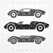 vintage cars clipart set of three vintage race cars in gray vector clipart image 30624