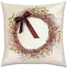 Easternaccents Eastern Accents Holly Wreath Pillow Studio 773 By Eastern Accents