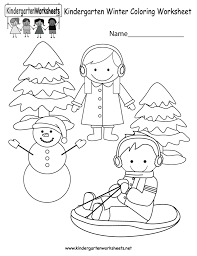 coloring pages winter coloring worksheet free kindergarten