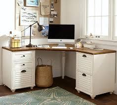 Desk And Filing Cabinet Set Whitney Corner Desk Set Pottery Barn