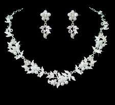 silver pearl necklace set images Pearl jewellery set ebay jpg