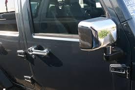 jeep wrangler door mirrors 07 2016 jeep wrangler chrome door handle mirror cover trim package