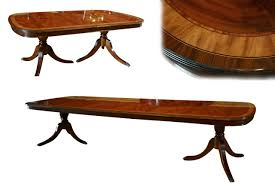 large oval mahogany double pedestal dining room table with large high end mahogany dining table seats 12 14