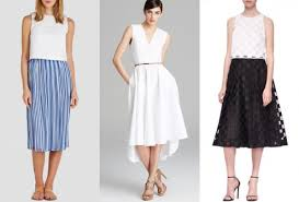 runway your way how to wear spring u0027s tea length skirts