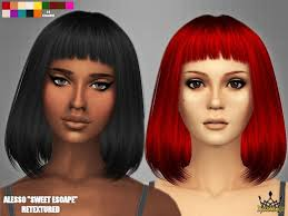custom hair for sims 4 15 best my sims 4 custom content folder female hair images on
