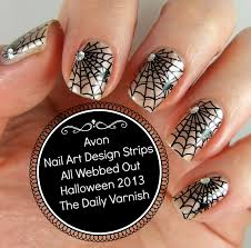 avon halloween nail art design strips all webbed out u2013 the daily