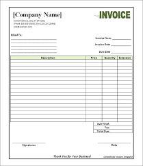 commercial invoices for exporting templates exle of commercial invoice for export template commercial invoice